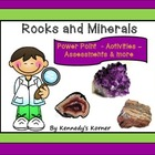 Rocks and Minerals ~ Power Point and Activities in pdf file