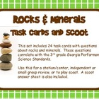 Rocks and Minerals Task Cards &amp; SCOOT