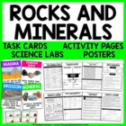 Rocks and Minerals - Unit Activities, Task Cards, and Posters