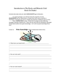 Rocks/Minerals Unit Student Workbook