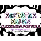 Rockstar Classroom Rules Posters {Small Version}
