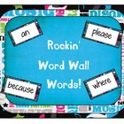 Rockstar or rock and roll themed word wall cards using the