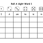 Roll A Sight Word Packet (First Grade)