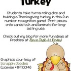 Roll & Build a Turkey Thanksgiving Freebie