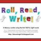 Roll Read Write Fry Sight Words Literacy Center