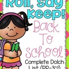 Roll, Say Keep {Back To School Dolch Sight Words}