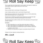 Roll, Say, Keep Game From Leach Teach