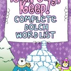 Roll, Say Keep {Winter Dolch Sight Words}