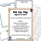 Roll, Say, Play:  Adjective or Verb?