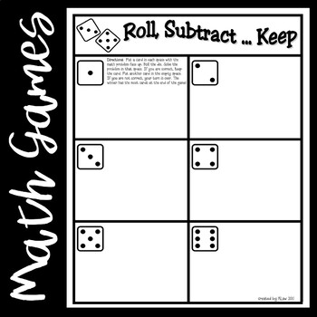 Roll, Subtract...Keep Game--Basic Facts from 20
