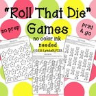 Roll That Die {open ended games for speech therapy or clas