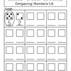 Roll The Dice {Comparing Numbers 1-6}