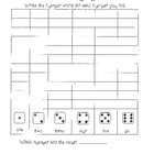 Roll, Write and Graph Number Words