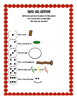 Roll an Apple Worksheet