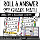 Roll and Answer Math Centers for 3rd Grade Common Core *Al