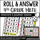 Roll and Answer Math Centers for 4th Grade Common Core *Al