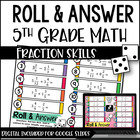 Roll and Answer Math Centers for Common Core *Numbers &amp; Op