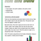 Roll and Build Math game