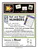 Roll and Read - NUMBERS!  A funsical way to practice and r