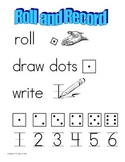 Roll and Record Game - Dice, Number Writing, Graphing