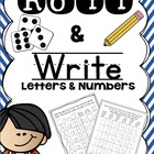 Roll and Write Numbers and ABC&#039;s