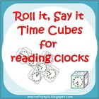 Roll it Say it Telling Time Cubes