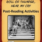 Roll of Thunder Hear My Cry Post-Reading, Essay and Writin