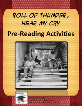 Roll of Thunder Hear My Cry Pre-Reading Activity Pack