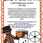 Roll or Spin a Scarecrow - Fall/Halloween center activity