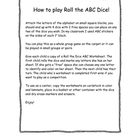 Roll the ABC dice! Fruit and Vegetable Math &amp; Literacy Uni