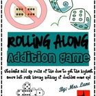Rolling Along Addition Game! (Great Center or Workstation!)