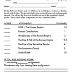 Roman Empire - Student Notes Packet & ANSWER KEY