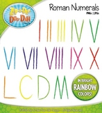 Roman Numerals Clipart — Fun & Bright Rainbow Colors!