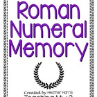 Roman Numerals Memory Game Sets