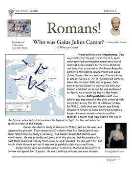 Rome: Julius Caesar & Cicero-Roman Empire by Don Nelson