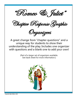 """Romeo & Juliet"" Chapter / Act Response Sheet - FREE!"