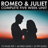 Romeo & Juliet Unit Plan, FIVE FULL WEEKS of Beautifully D