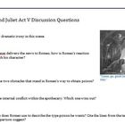 Romeo and Juliet Act V Discussion Questions