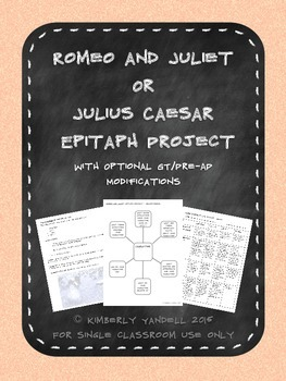 Romeo and Juliet Epitaph Lesson
