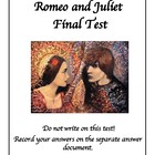 Romeo and Juliet Final Test/Exam