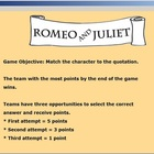 Romeo and Juliet Quote Game (Demo)