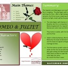 Romeo and Juliet Revision Poster