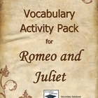 Romeo and Juliet Vocabulary Activity Pack, Quizzes, and Tests