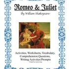 Romeo and Juliet activities, worksheets, and lessons