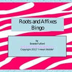 Roots and Affixes BINGO