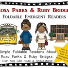 Rosa Parks &amp; Ruby Bridges Foldable Emergent Readers ~Color