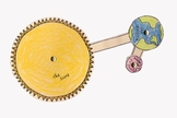 Rotation and Revolution Model: Sun, Earth and Moon by Scie