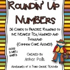 """Roundin' Up Numbers"" Task Cards"