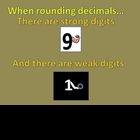 Rounding Decimals - Introducing Strong and Weak Digits