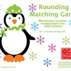 Rounding Matching Game (Penguin Themed)